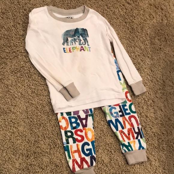 NWT Gymboree Boys Striped Thermal  Gymmies Pajama Set Pj  5,8,12